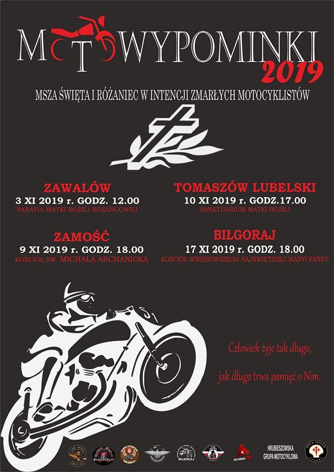 72994082 2604967009546365 5685991702913875968 n ZAMOŚĆ/REGION: MotoWypominki - msze w intencji zmarłych motocyklistów