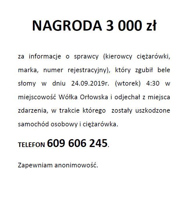 73023175 791782581241970 1832271230732861440 n 3000 zł za pomoc w odnalezieniu sprawcy wypadku. Pomóż, podaj dalej!