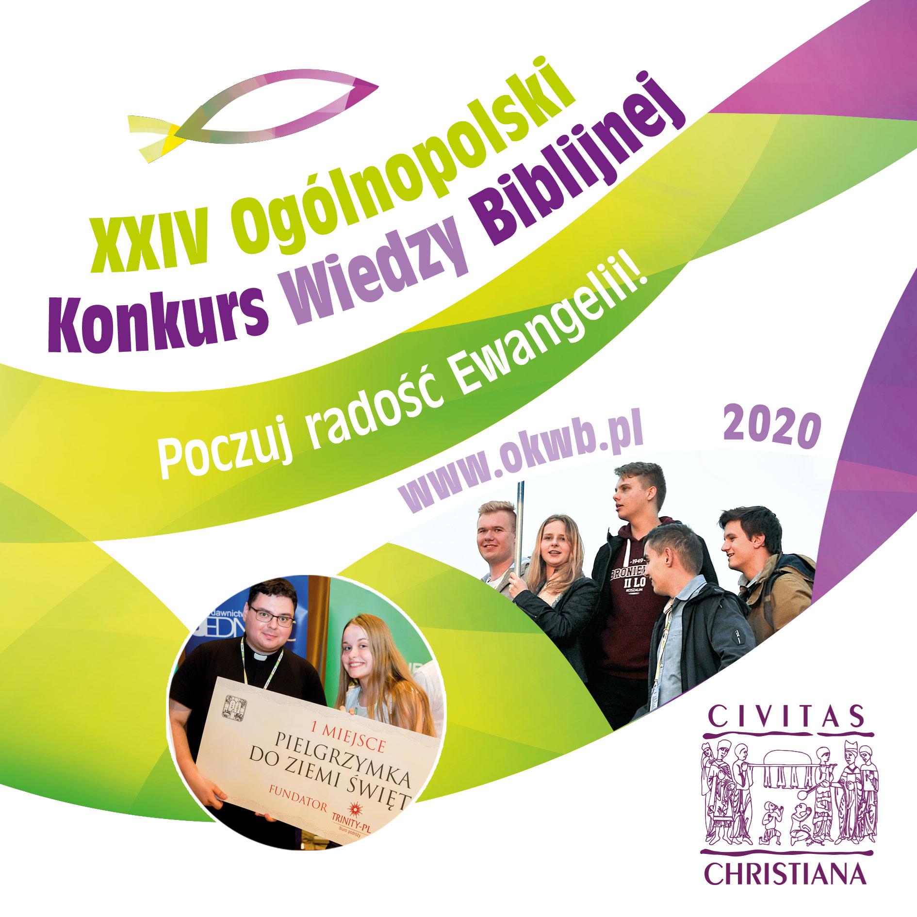 folder 2019 Ogólnopolski Konkurs Wiedzy Biblijnej. Do wygrania pielgrzymka do Ziemi Świętej