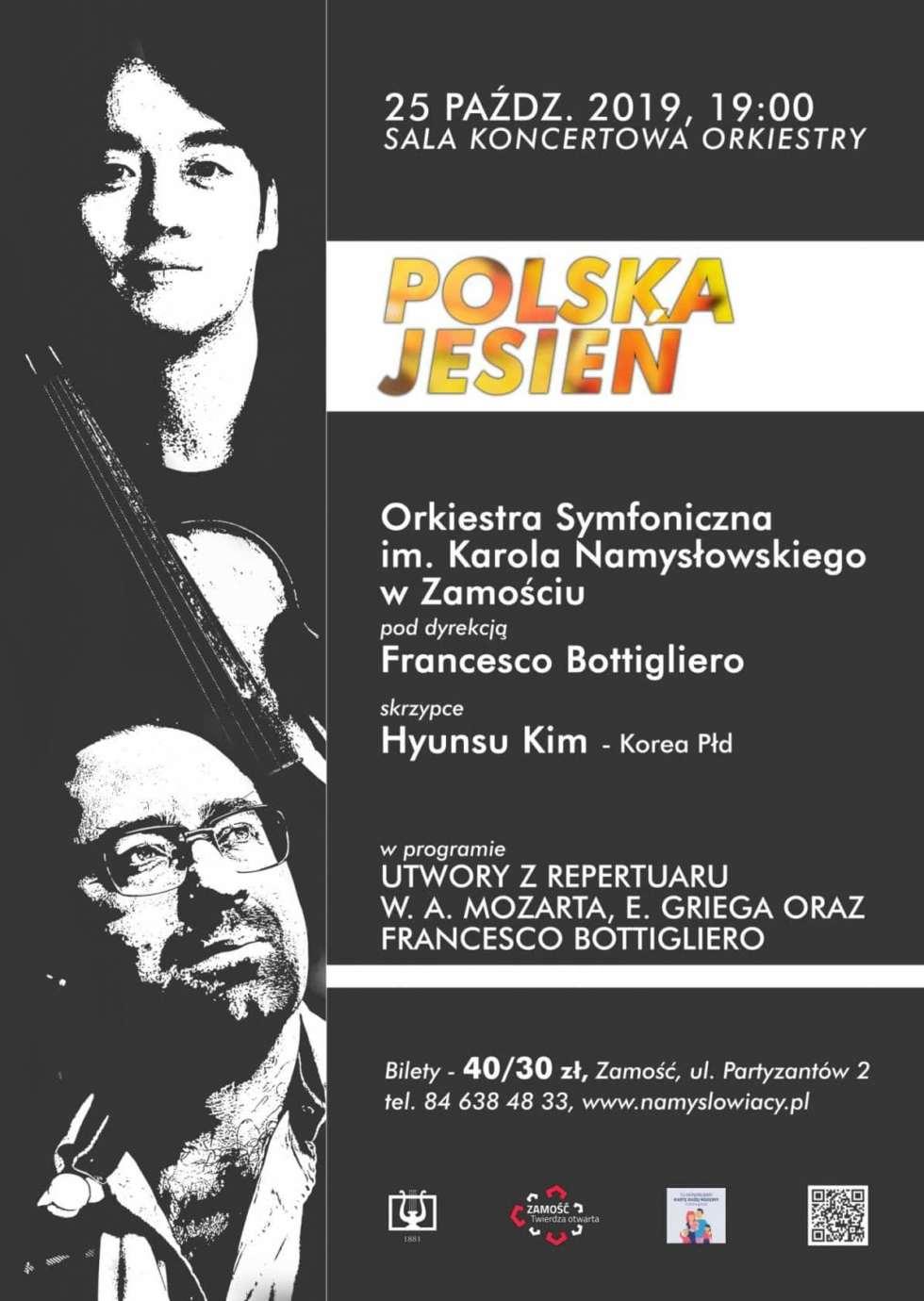 """koncert symfoniczny 7 1 Zamość:""""Polska Jesień"""" w międzynarodowej odsłonie.Wyjątkowy koncert w Orkiestrze"""