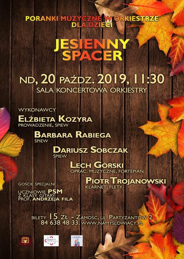 """plakat jesienny spacer Jesienny spacer z """"Namysłowiakami"""""""