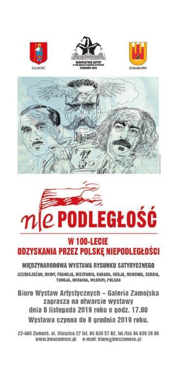 zaproszenie niepodleglosc Niepodległość Polski w rysunku satyrycznym.