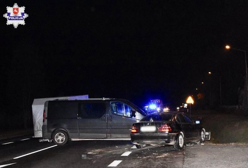 68 158697 Sitaniec - zderzenie Opla z BMW