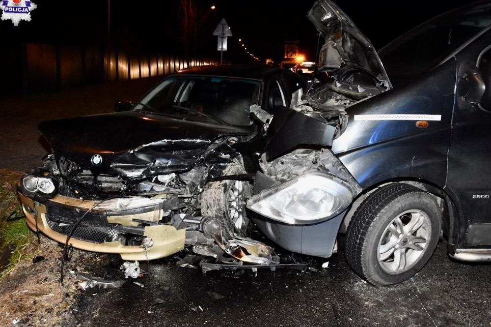 68 158699 Sitaniec - zderzenie Opla z BMW