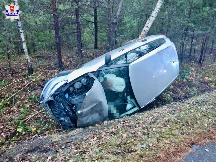 68 159071 Kradzież telefonów, szaleńcza ucieczka, pościg i uderzenie w drzewo (zdjęcia)