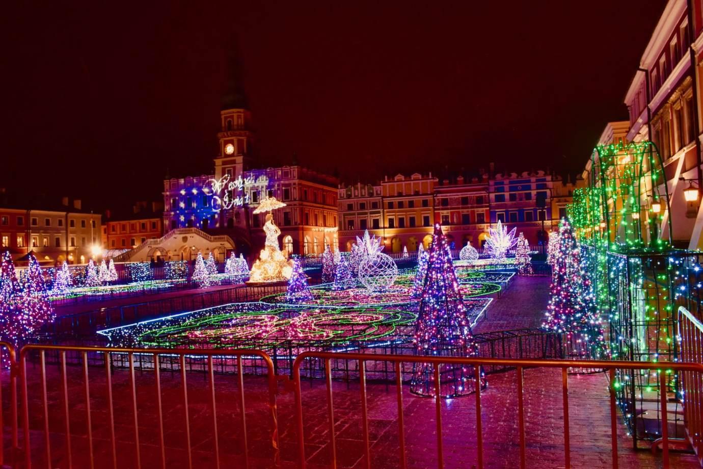 dsc 3987 Świetlny labirynt w sercu miasta. Zamość uroczyście odpali świąteczne iluminacje