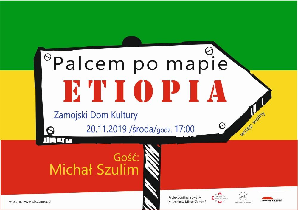 """etiopiaa plakat www Wybierz się w podróż do Etiopii. ZDK zaprasza na kolejne spotkanie z cyklu """"Palcem po mapie"""""""