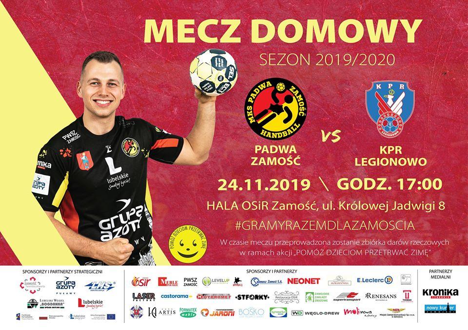 plakat meczowy padwa legionowo Ruszyła przedsprzedaż biletów na mecz Padwa Zamość – KPR Legionowo.