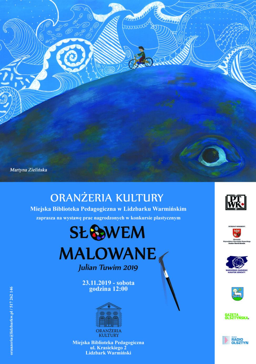 plakat zaproszenie slowem malowane Uczennice