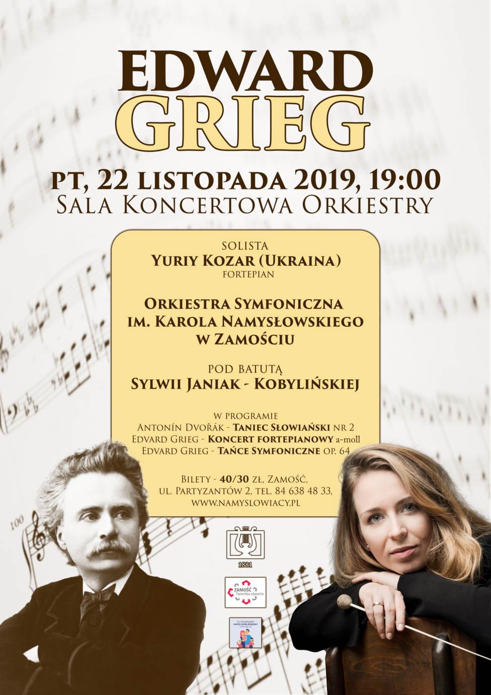 symfoniczny plakat6 Zamość: Edward Grieg – koncert symfoniczny