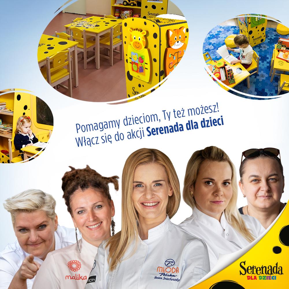 szefowe kuchni pomagaja dzieciom Szpital