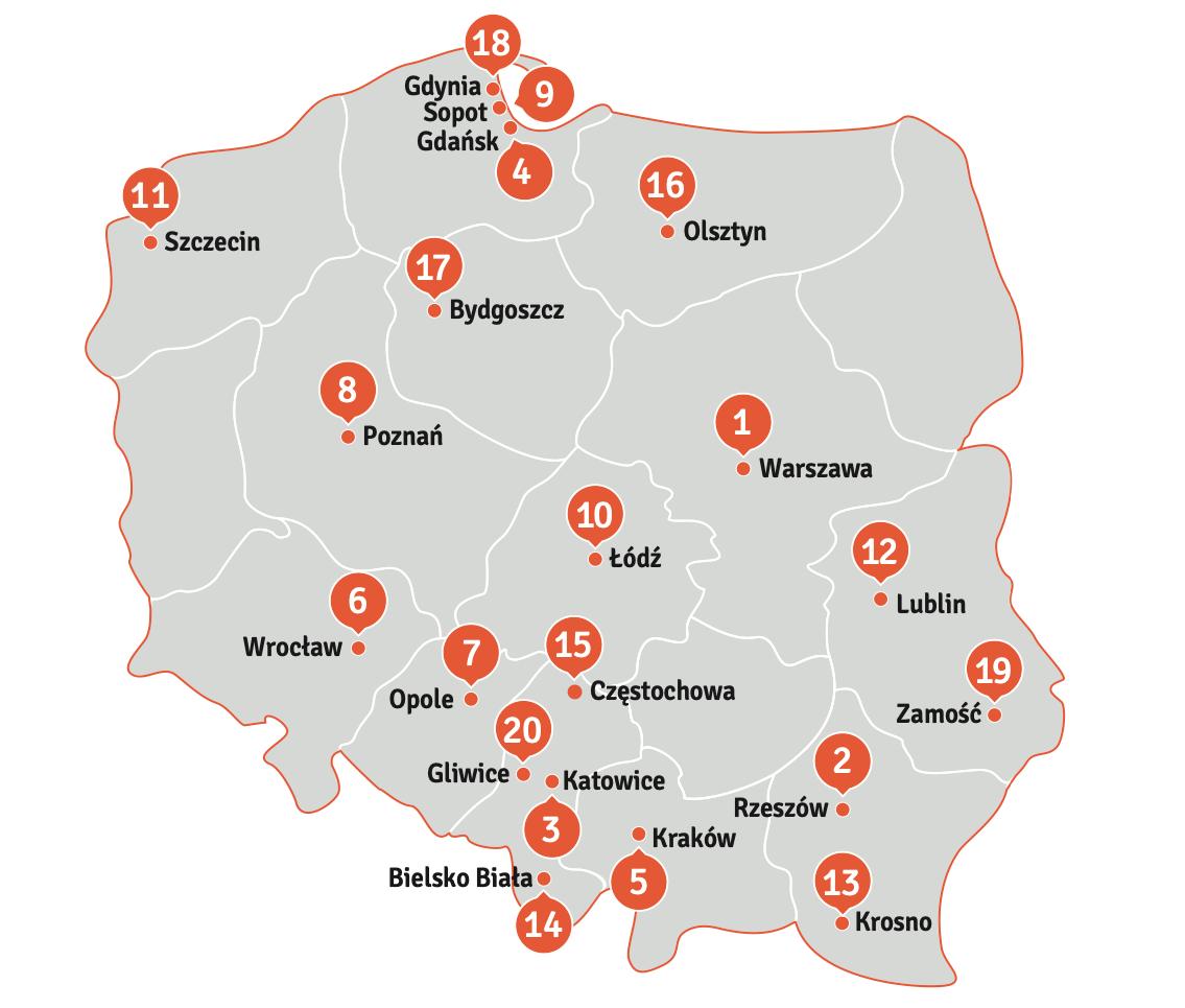 zrzut ekranu 2019 11 8 o 12 11 50 Ranking 66 polskich miast przyjaznych ludziom młodym. Jak wypadł Zamość?