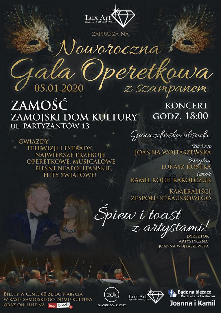 00120 sylwester zamosc www 2019 11 27 Noworoczna Gala Operetkowa z Szampanem w ZDK-u