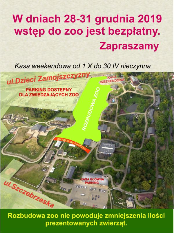 grafika: Ogród Zoologiczny im. Stefana Milera w Zamościu