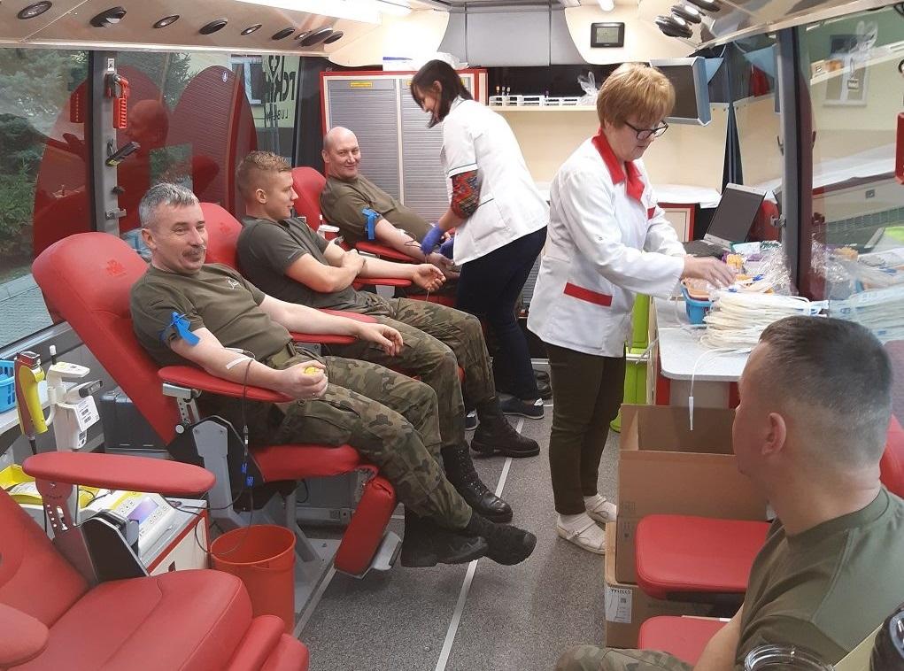 2 lbot zamosc bozonarodzeniowa zbiorka krwi 2019 Świąteczna pomoc od Terytorialsów