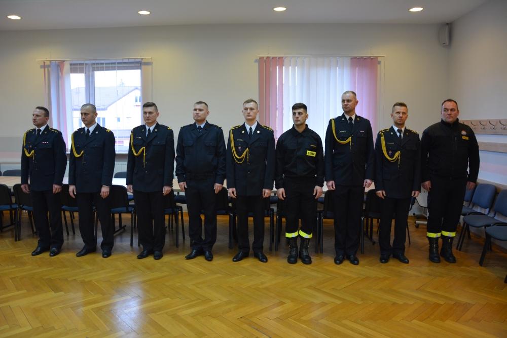 dsc 0037 Spotkanie opłatkowe strażaków i ślubowanie nowego funkcjonariusza [ZDJĘCIA]
