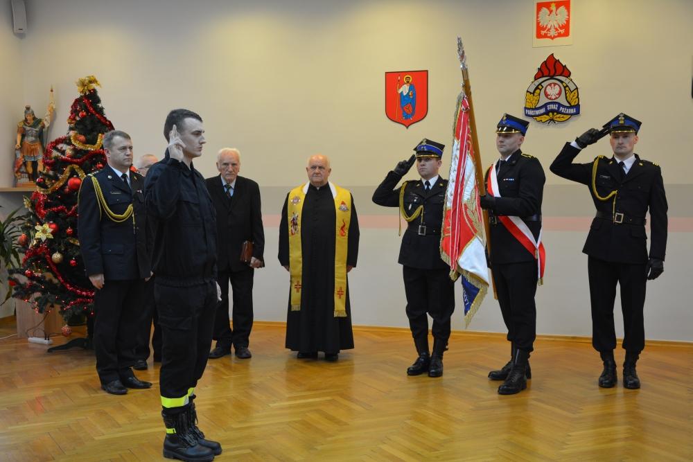 dsc 0041 Spotkanie opłatkowe strażaków i ślubowanie nowego funkcjonariusza [ZDJĘCIA]