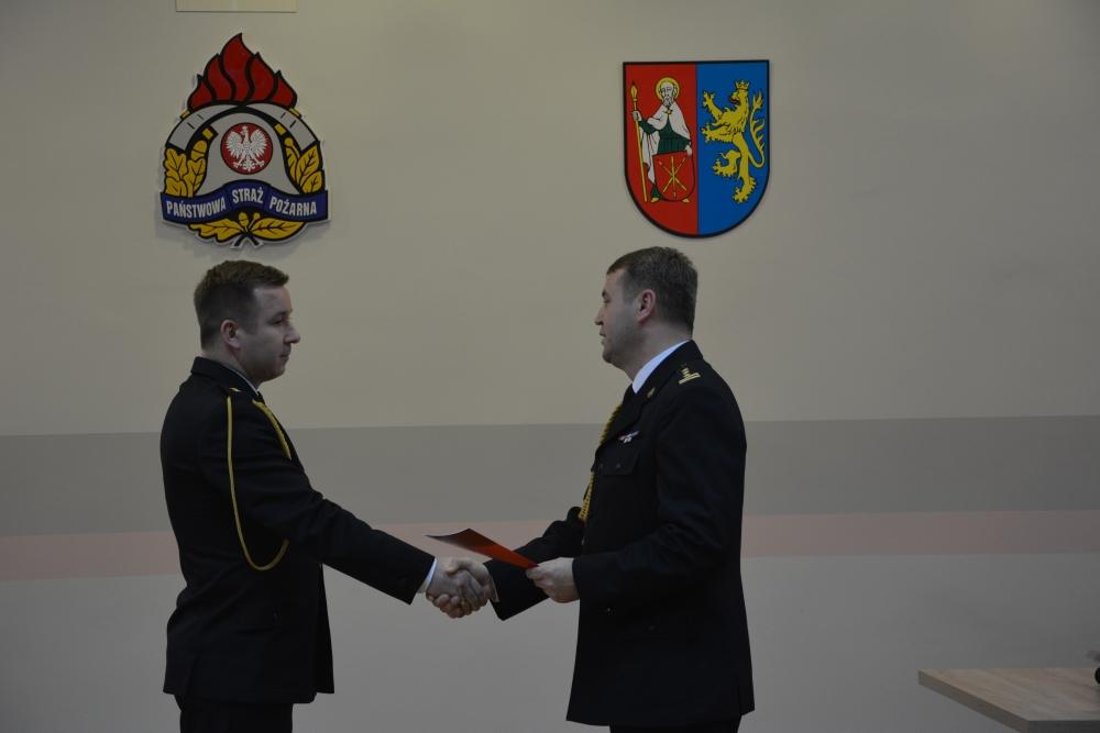 dsc 0067 Spotkanie opłatkowe strażaków i ślubowanie nowego funkcjonariusza [ZDJĘCIA]