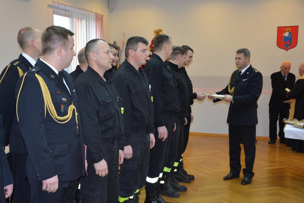 dsc 0079 Spotkanie opłatkowe strażaków i ślubowanie nowego funkcjonariusza [ZDJĘCIA]