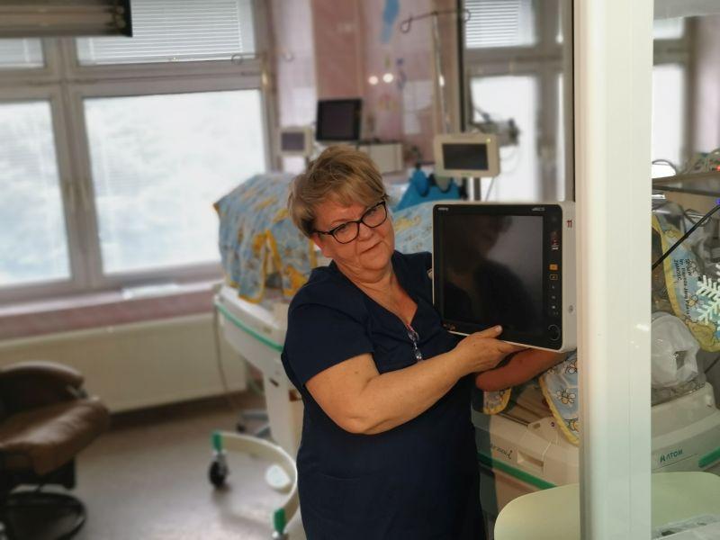 img 20191212 102313 Zamojski Sztab WOŚP z wizytą na Oddziale Neonatologii [ZDJĘCIA]