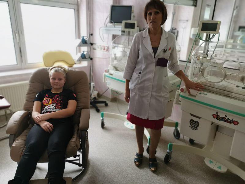 img 20191212 103132 Zamojski Sztab WOŚP z wizytą na Oddziale Neonatologii [ZDJĘCIA]