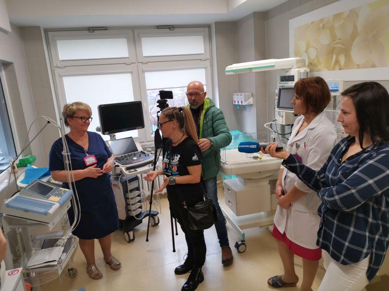 img 20191212 104504 Zamojski Sztab WOŚP z wizytą na Oddziale Neonatologii [ZDJĘCIA]