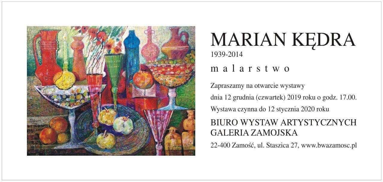 marian kedra BWA zaprasza na wystawę Mariana Kędry