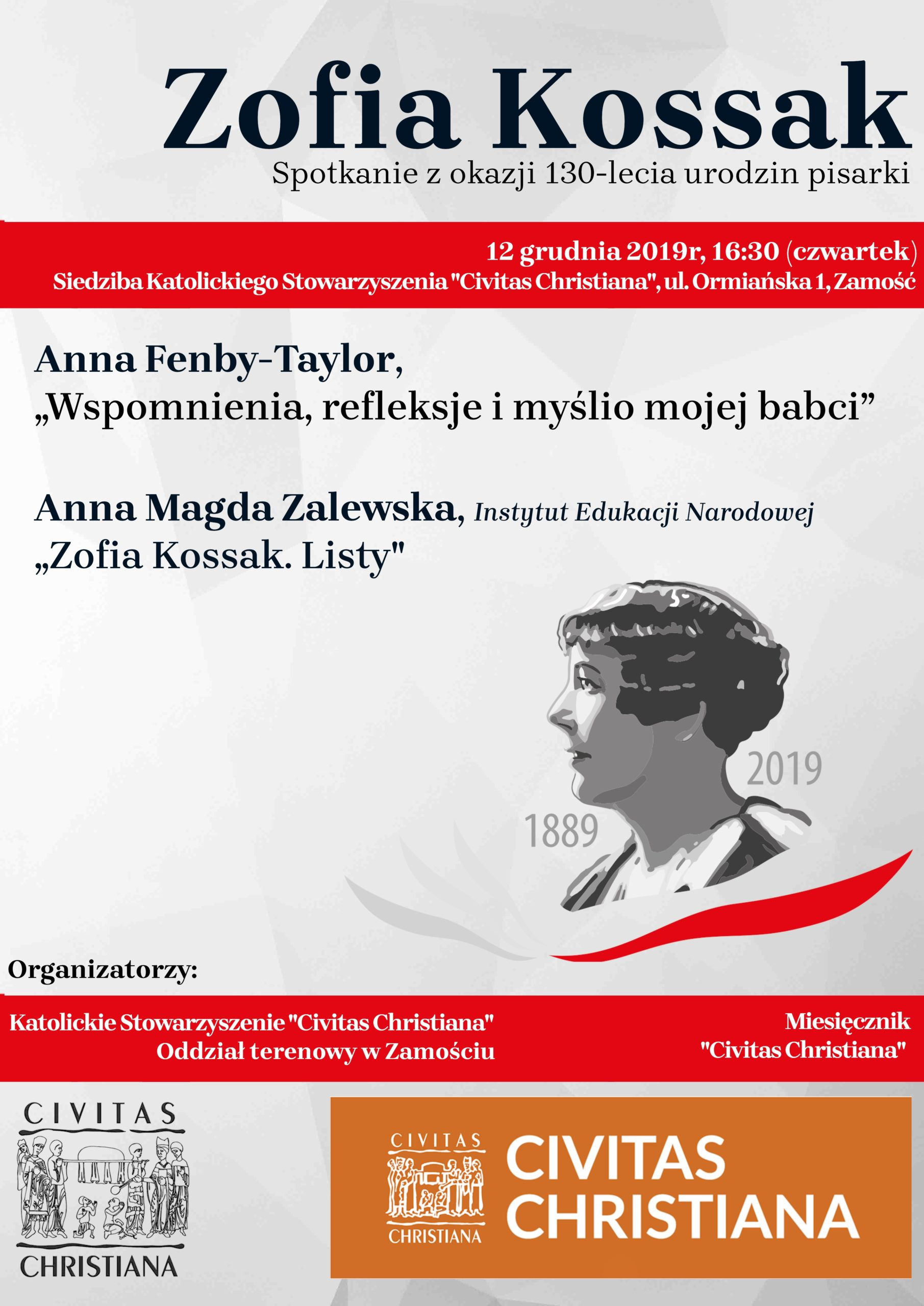 plakat130 zamosc scaled Wnuczka Zofii Kossak przyjeżdża do Zamościa.