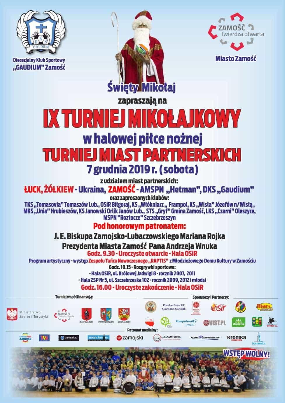 unnamed Zamość: Turniej Mikołajkowy w halowej piłce nożnej (ZAPOWIEDŹ)