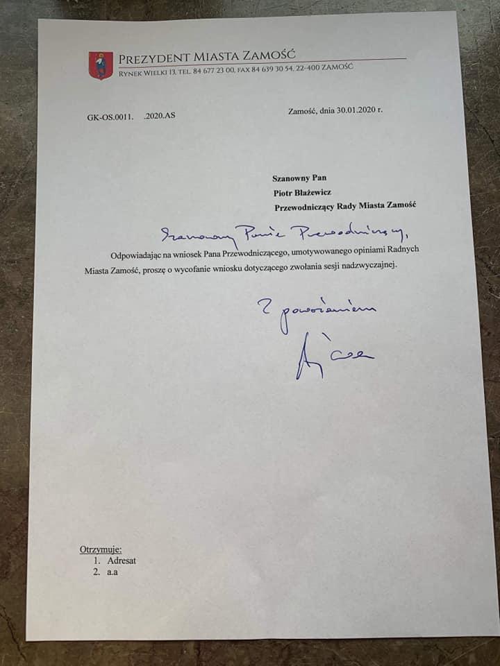 84212652 1475014399325130 7292107762773786624 n Andrzej Wnuk: Jutrzejsza nadzwyczajna sesja Rady Miasta odwołana
