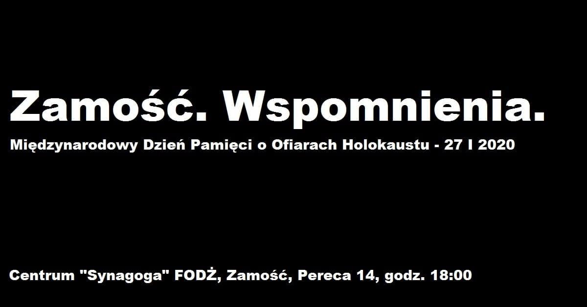 ikona Zamość: Uczczą pamięć ofiar Holokaustu
