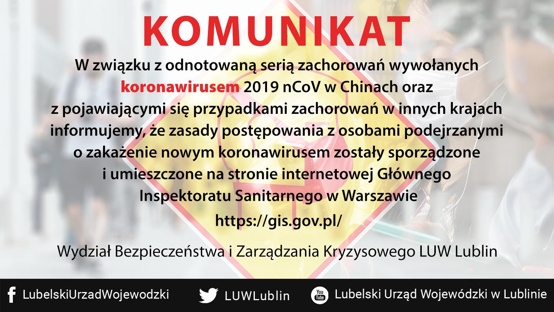 koronawirus fb tt Koronawirus zbiera żniwo. Lubelski Urząd Wojewódzki publikuje komunikat alarmowy