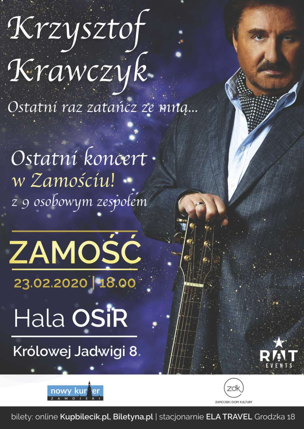 plakatat kk zamosc a2 1 Ostatni koncert Krzysztofa Krawczyka w Zamościu. ROZDAJEMY WEJŚCIÓWKI!!!