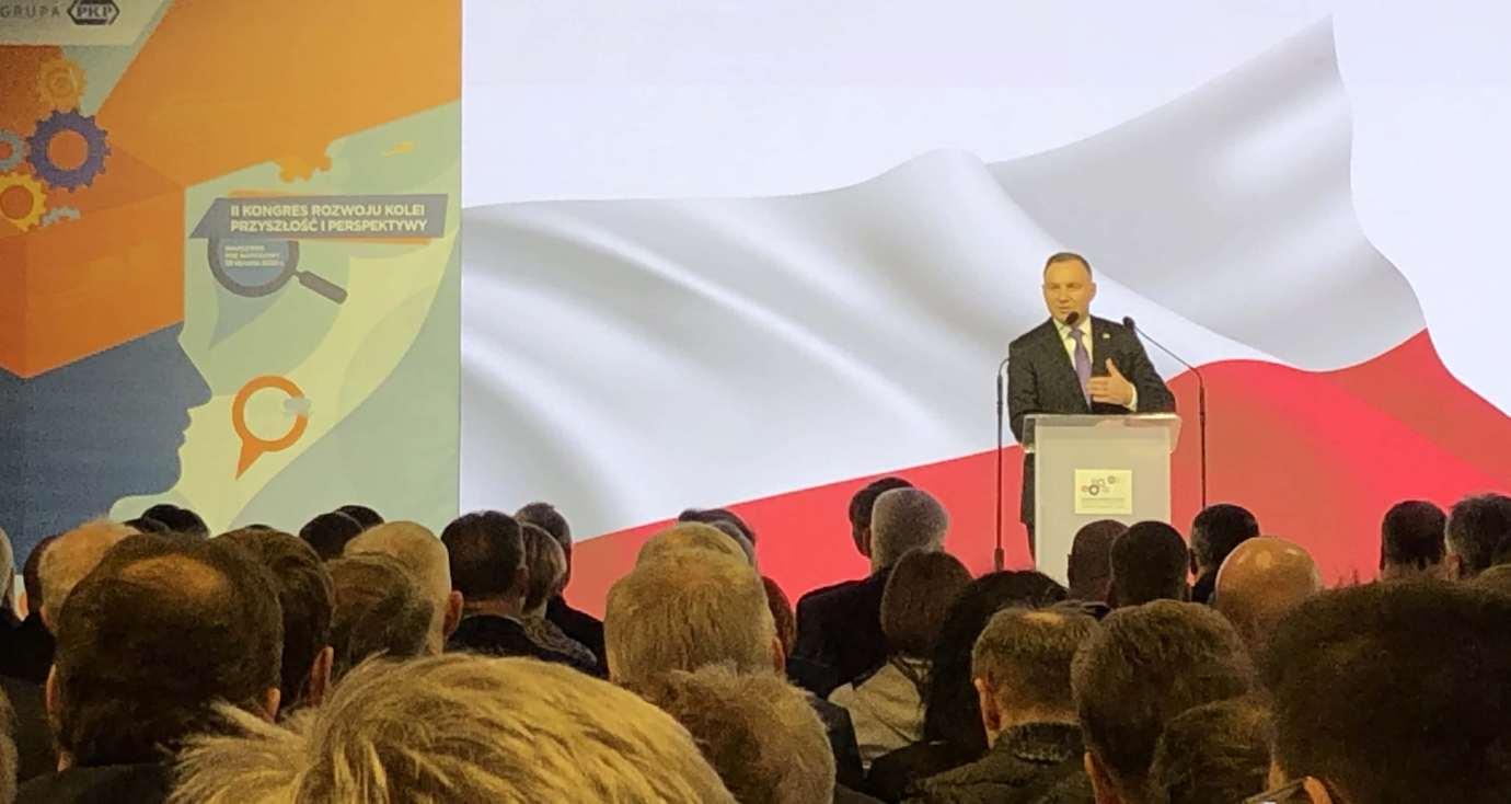 prezydent andrzej duda LHS: 1000-metrowy pociąg z chińskiego Xi'an podąża do Polski