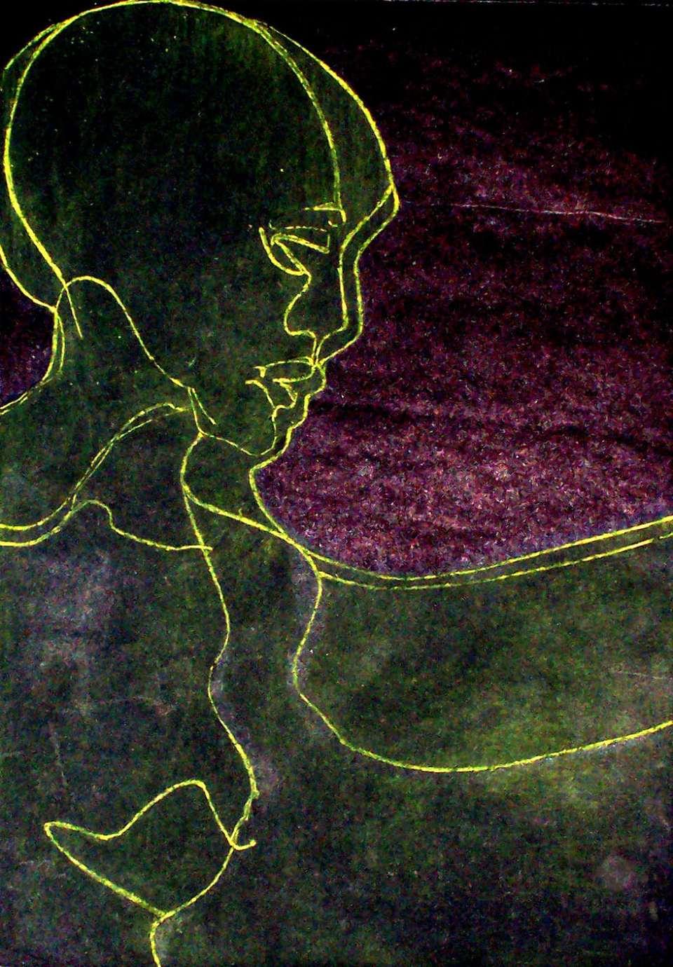 """1 wspomnienie joanna slupska maron grafika 30x40 cm """"Ulotność"""" Joanny Słupskiej-Maron graficznym obrazem teatru tańca"""
