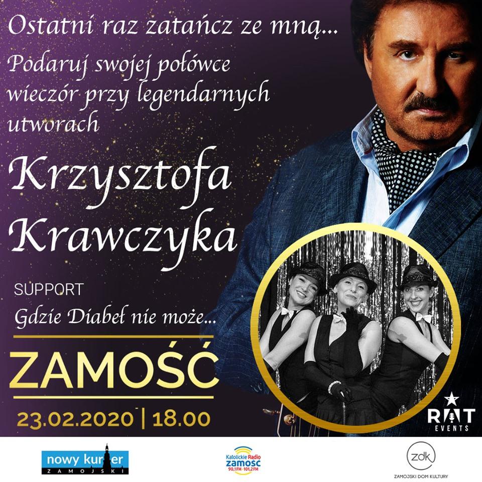 84183961 1365738630299358 3131131089788076032 n Wyjątkowe muzyczne wydarzenie w Zamościu! Koncert Krzysztofa Krawczyka.