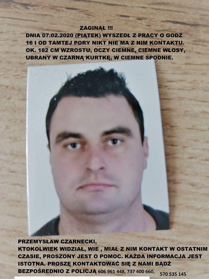 85041828 836229523487943 796306543204106240 n ZAMOŚĆ! W piątek zaginął Przemysław Czarnecki. UDOSTĘPNIJ