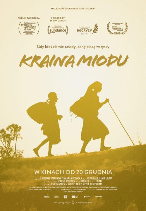 "plakat ""Kraina miodu"" w Kinie Konesera"