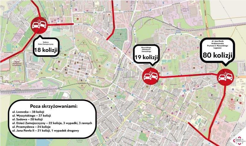 zrzut ekranu 2020 02 20 o 12 12 28 Zamość: Aż 80 kolizji drogowych w ciągu roku. W tym miejscu padł niechlubny rekord