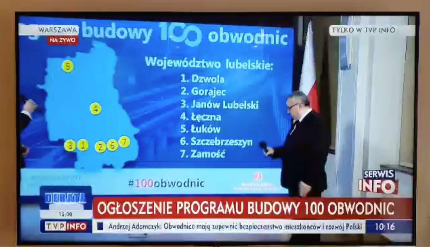 zrzut ekranu 2020 02 8 o 13 16 10 Powstanie nowa obwodnica Zamościa! Zatwierdzono plan budowy 100 obwodnic!