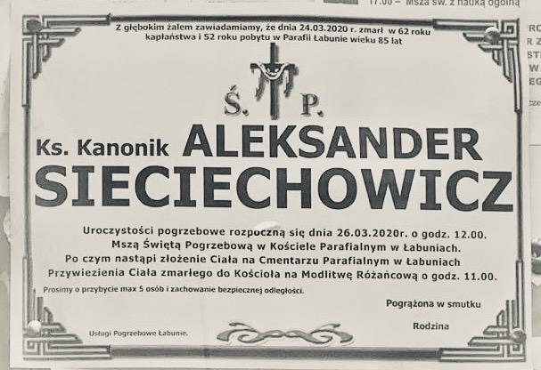 Diecezja ucina spekulacje na temat śmierci księdza proboszcza z Łabuń