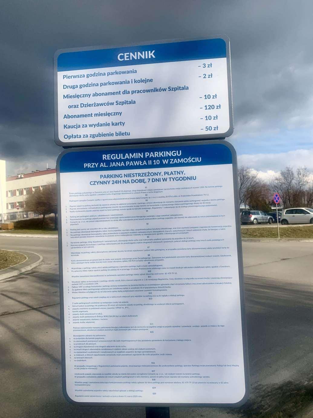 img 6913 1 Płatne parkowanie - mamy odpowiedź Rzecznika Samodzielnego Wojewódzkiego Szpitala im. Papieża Jana Pawła II w Zamościu