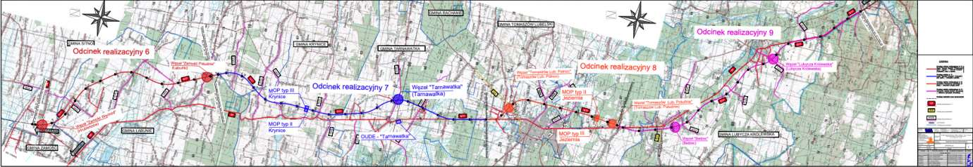 mapka Ruszają spotkania z mieszkańcami ws. budowy drogi ekspresowej S17 Piaski – Hrebenne