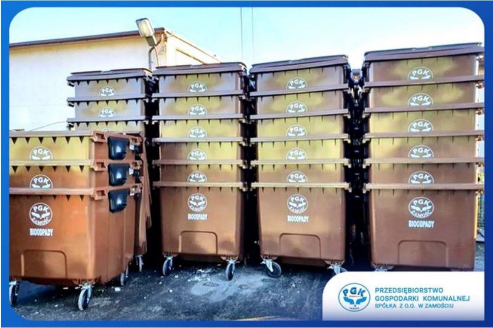 pojemniki Zamość: Nowe pojemniki na bioodpady