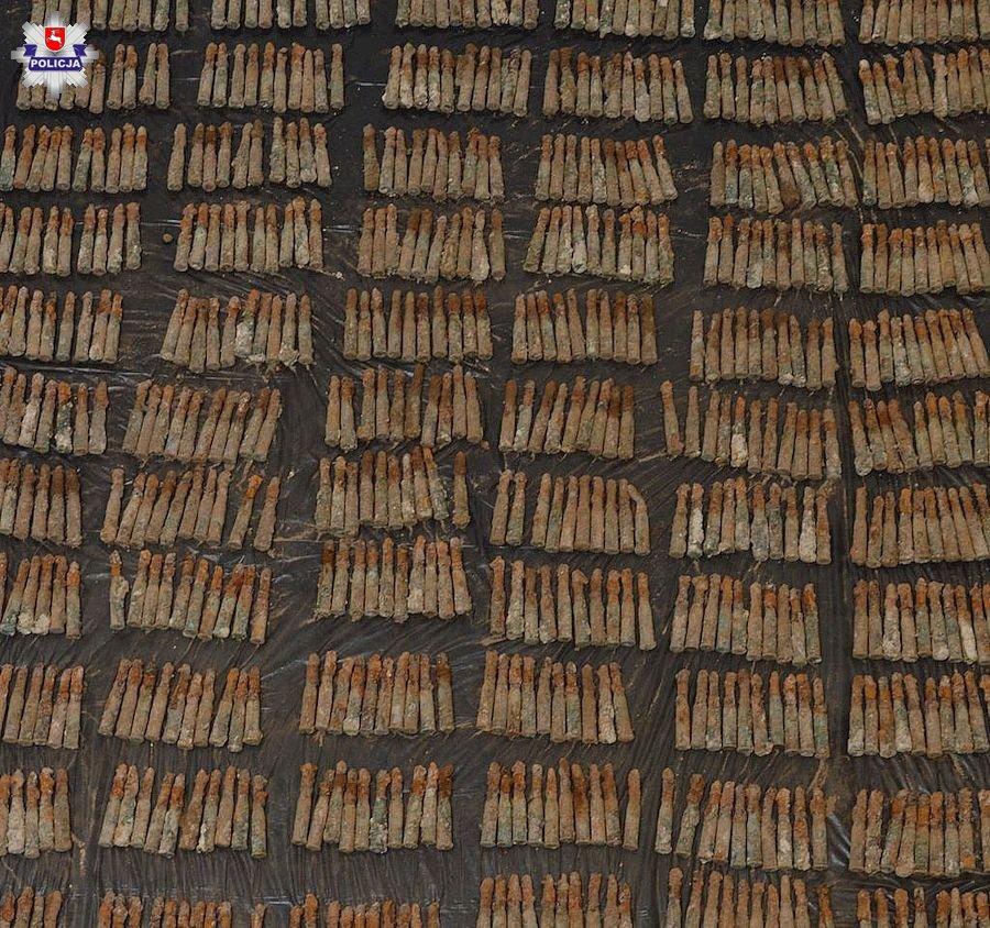 68 167514 Amunicja z czasów wojny wykopana podczas prac budowlanych