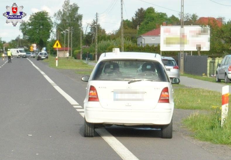 68 167755 21- latek nie zdążył zahamować i uderzył w tył jadącego przed nim samochodu