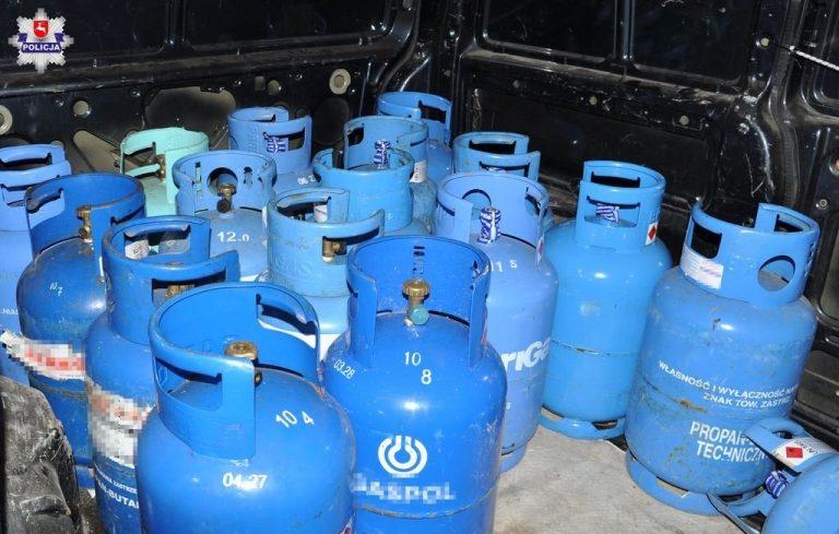 Ukradł 140 butli gazowych, pełnych i pustych