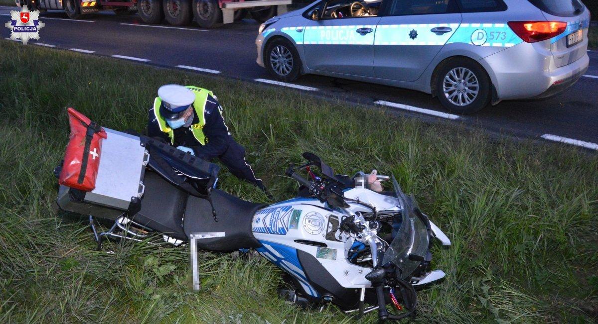 68 168236 Motocyklista zasłabł w czasie jazdy