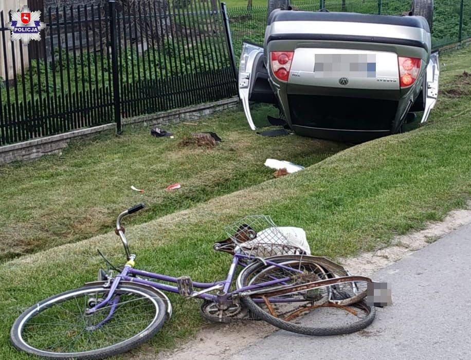 68 168294 Zginął 60-letni rowerzysta potrącony przez 18-letniego kierowcę