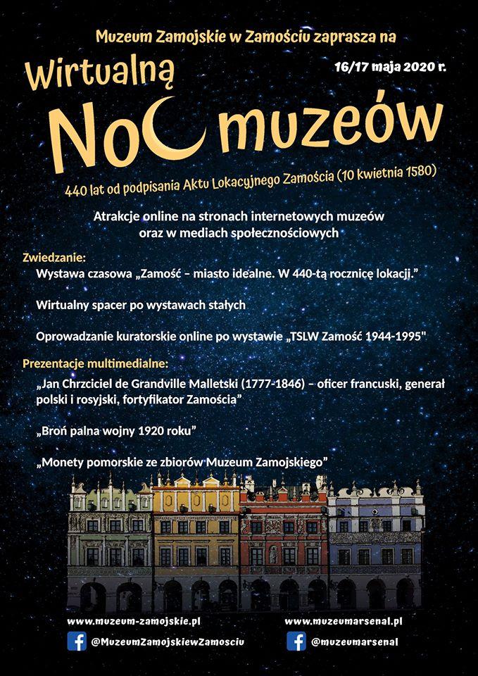 97009863 3051264658272981 2174677074520834048 o 1 Już jutro Wirtualna Noc Muzeów w Zamościu.